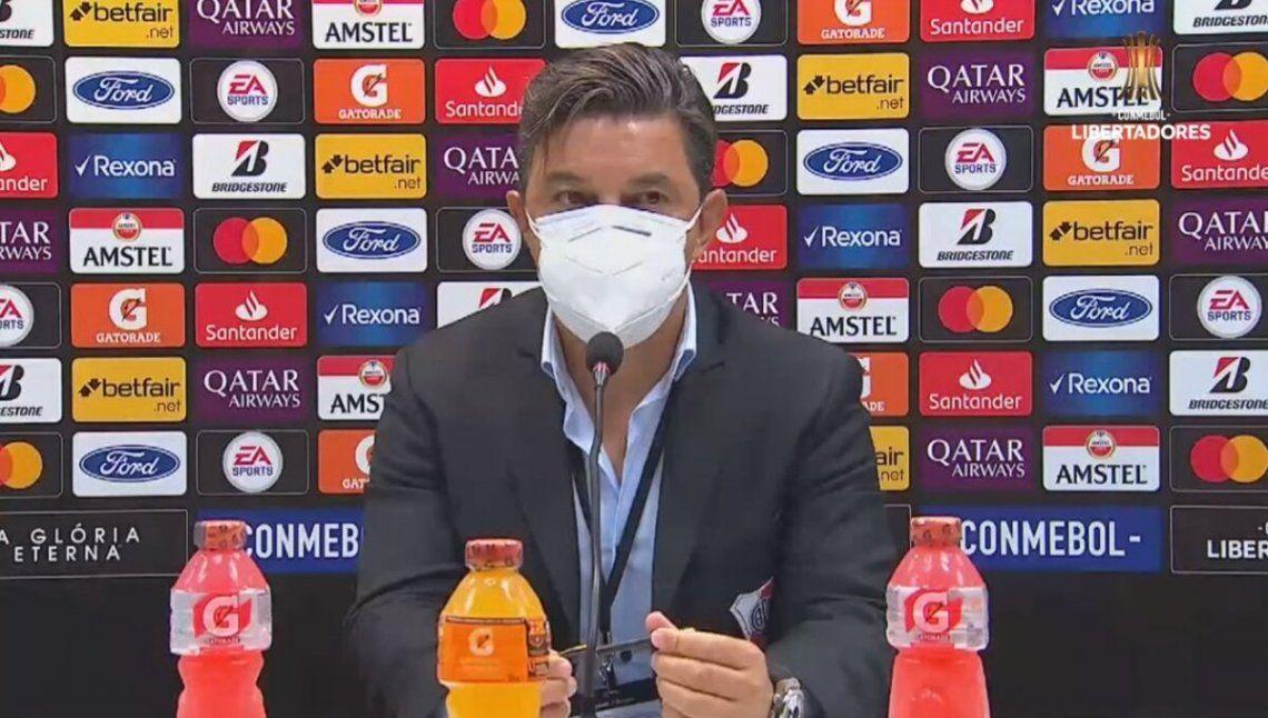 Marcelo Gallardo se fue conforme con el empate