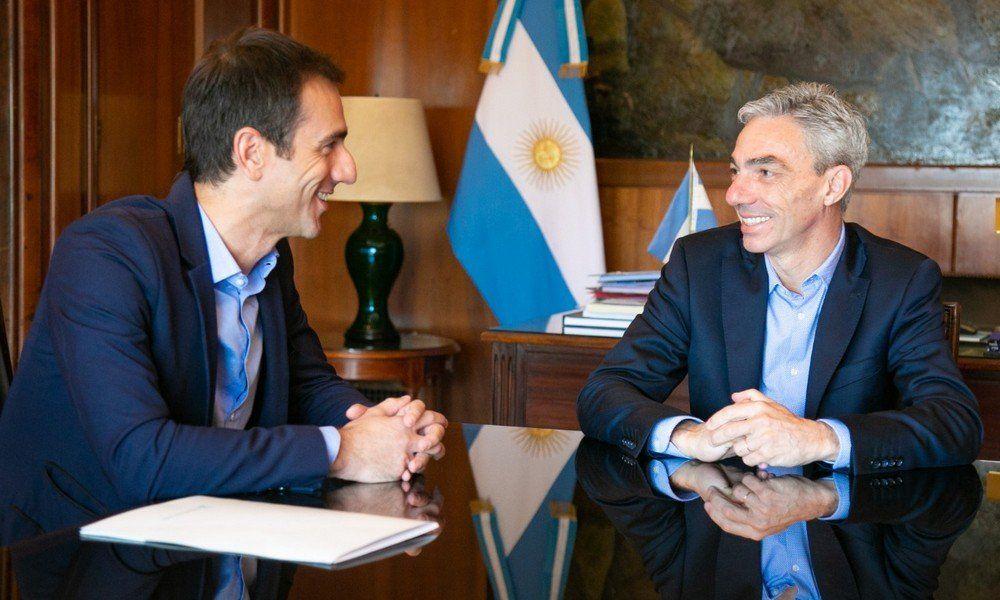 Mario Meoni junto a Pablo Patracca