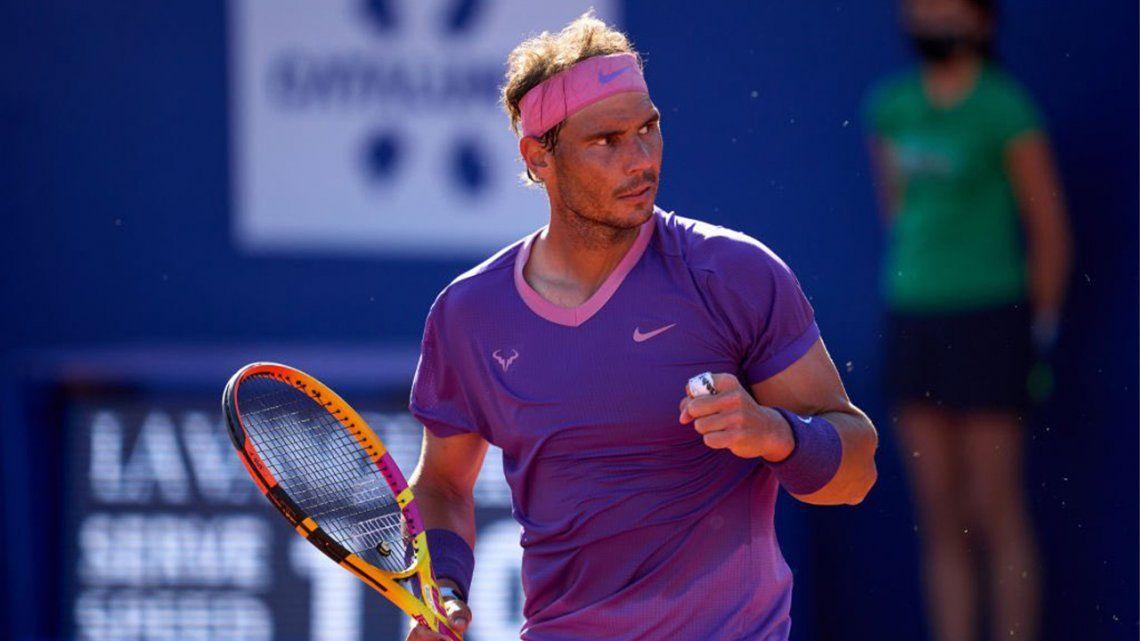 Rafael Nadal es finalista nuevamente en Barcelona.