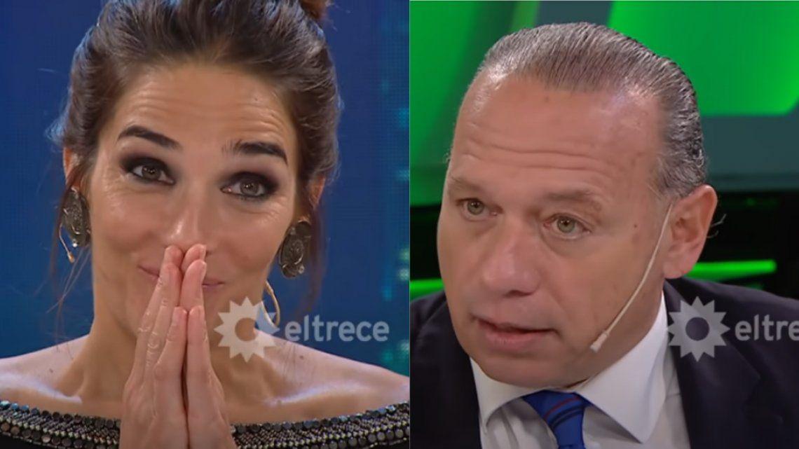 Juana Viale y Sergio Berni en La Noche de Mirtha.