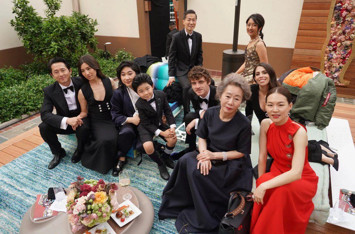 El elenco de Minari