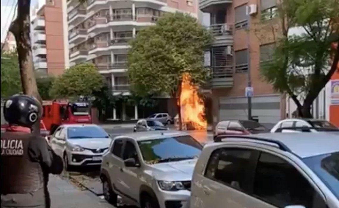Caballito: incendio luego de la rotura de un caño de gas.