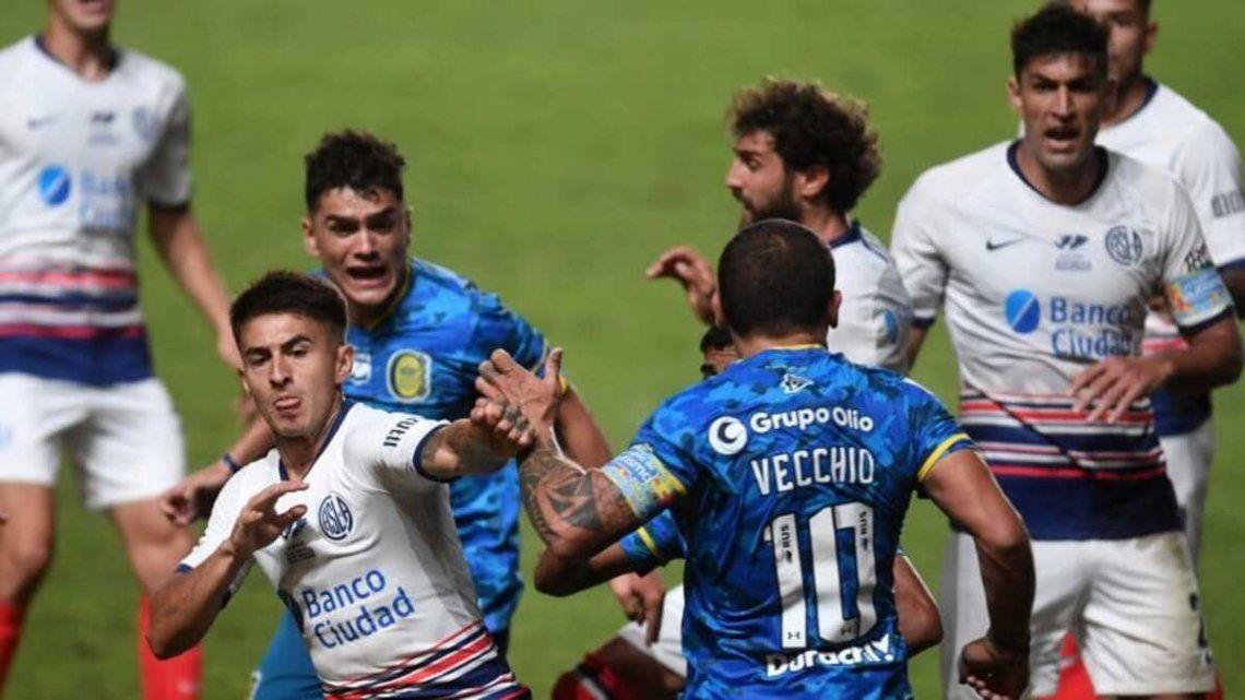 La última vez el final del partido entre Rosario Central y San Lorenzo estuvo bastante caliente