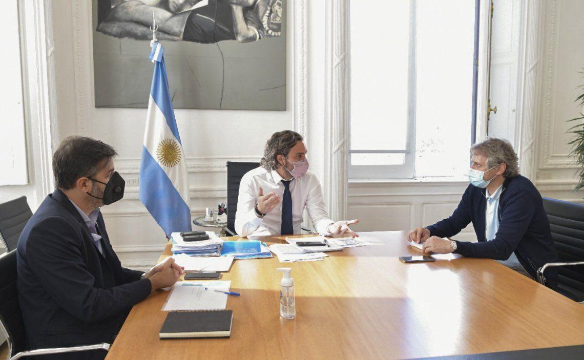 Cafiero recibió a Bianco y Miguel para analizar la situación epidemiológica y comenzar a delinear nuevas restricciones.