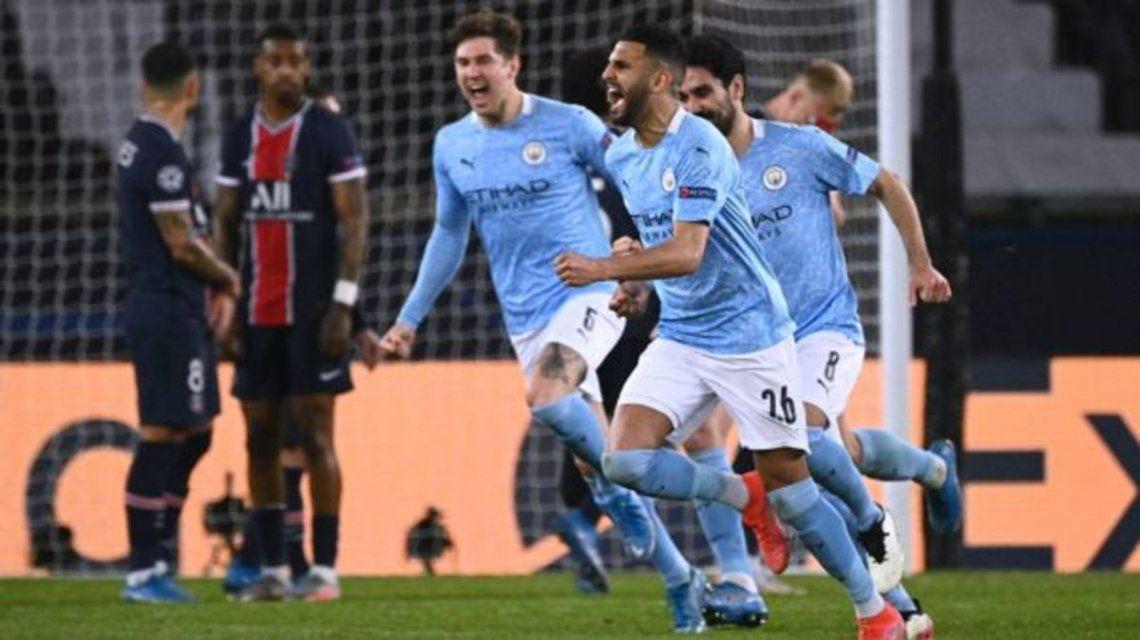 El Manchester City le ganó 2-1 al PSG en el partido de ida por las semifinales de la Champions League.