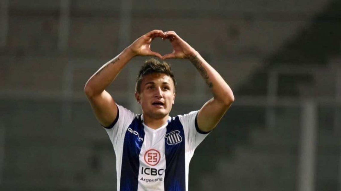 Nahuel Tenaglia marcó el único gol de Talleres