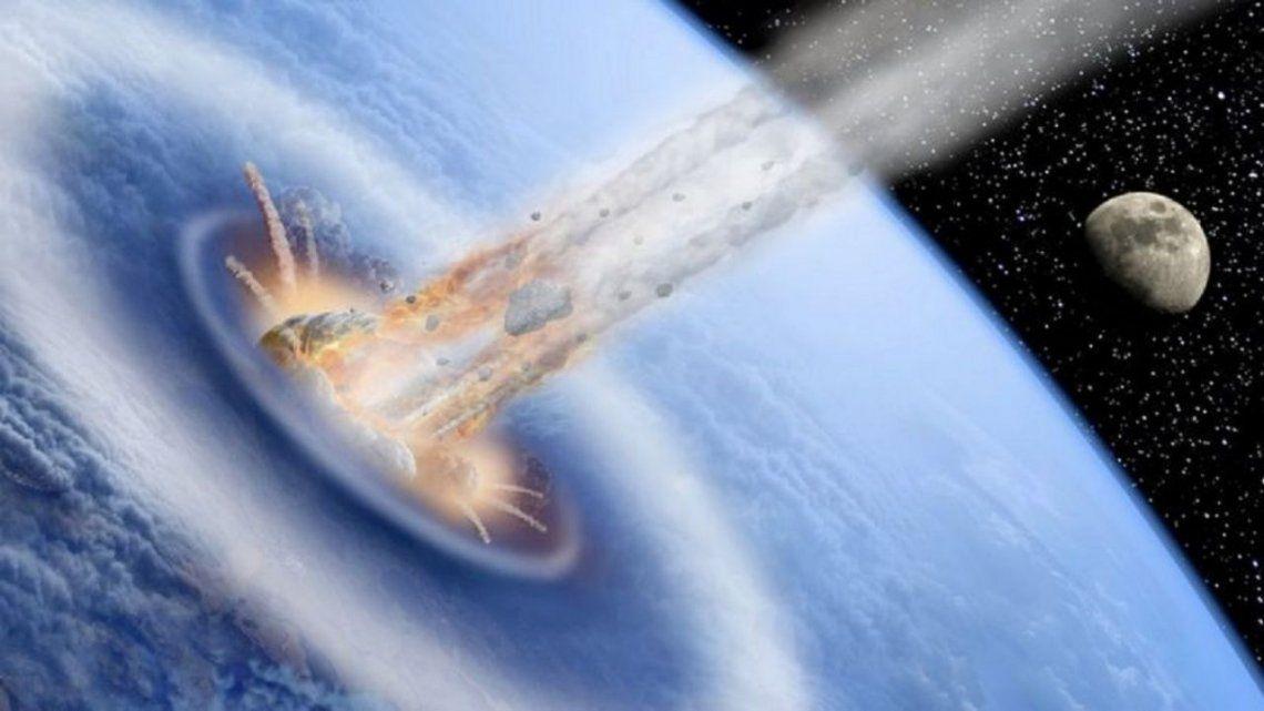 La simulación representa un caso ficticio en el que un asteroide