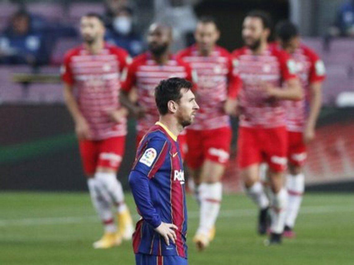 El Barcelona cayó 2-1 de local ante Granada