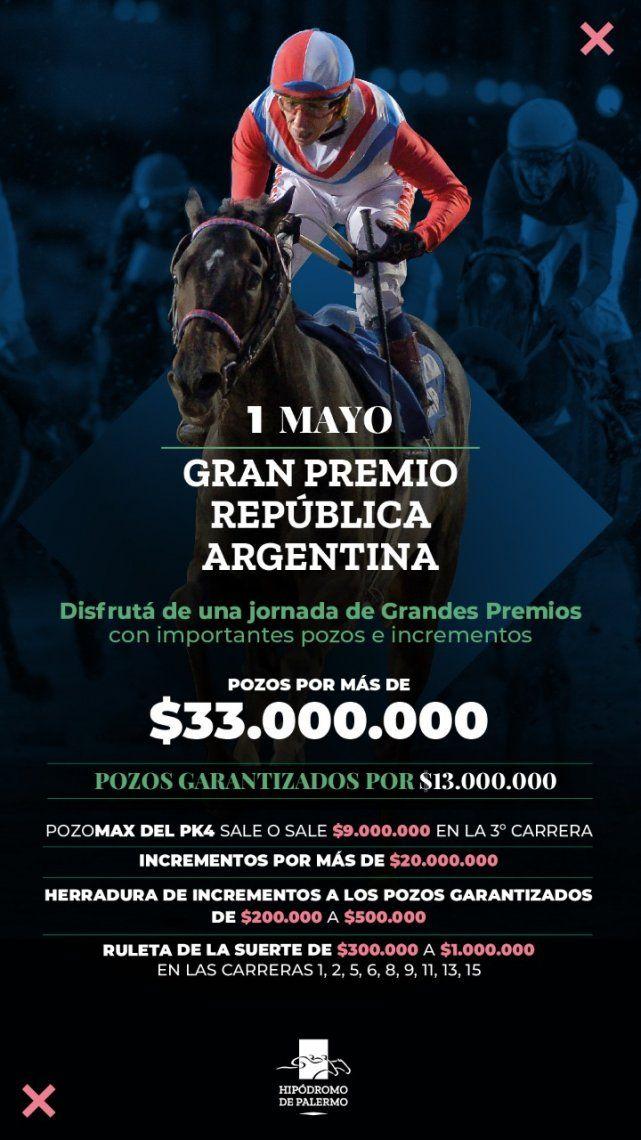 Programa y candidatos para hoy en el Hipódromo de Palermo