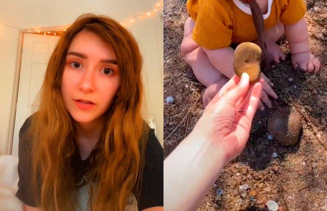 Estados Unidos: madre vegana deja que su bebé coma arena y piedras