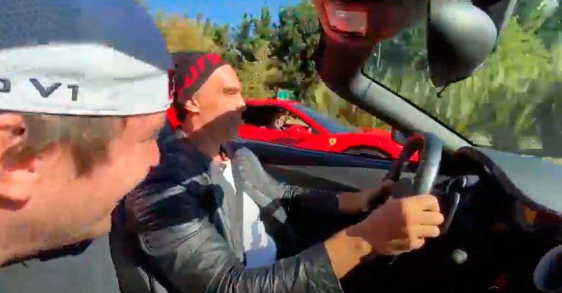 Se filmaron corriendo picadas en dos Ferrari en Nordelta: De algo hay que morir