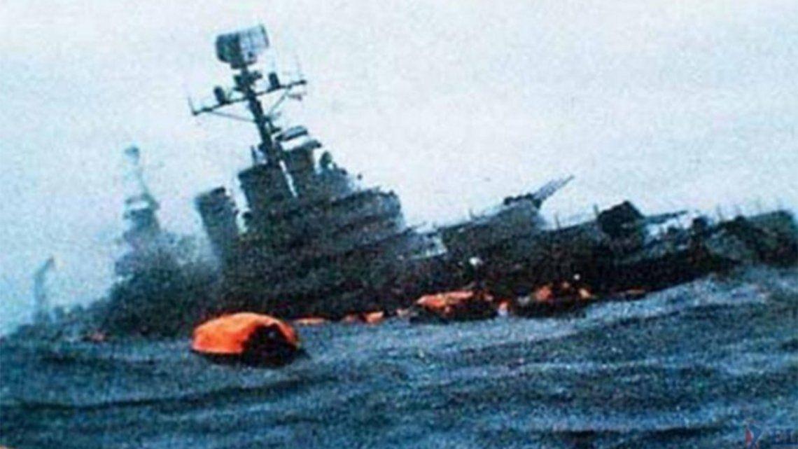 Crucero General Belgrano: A 39 años de su hundimiento.