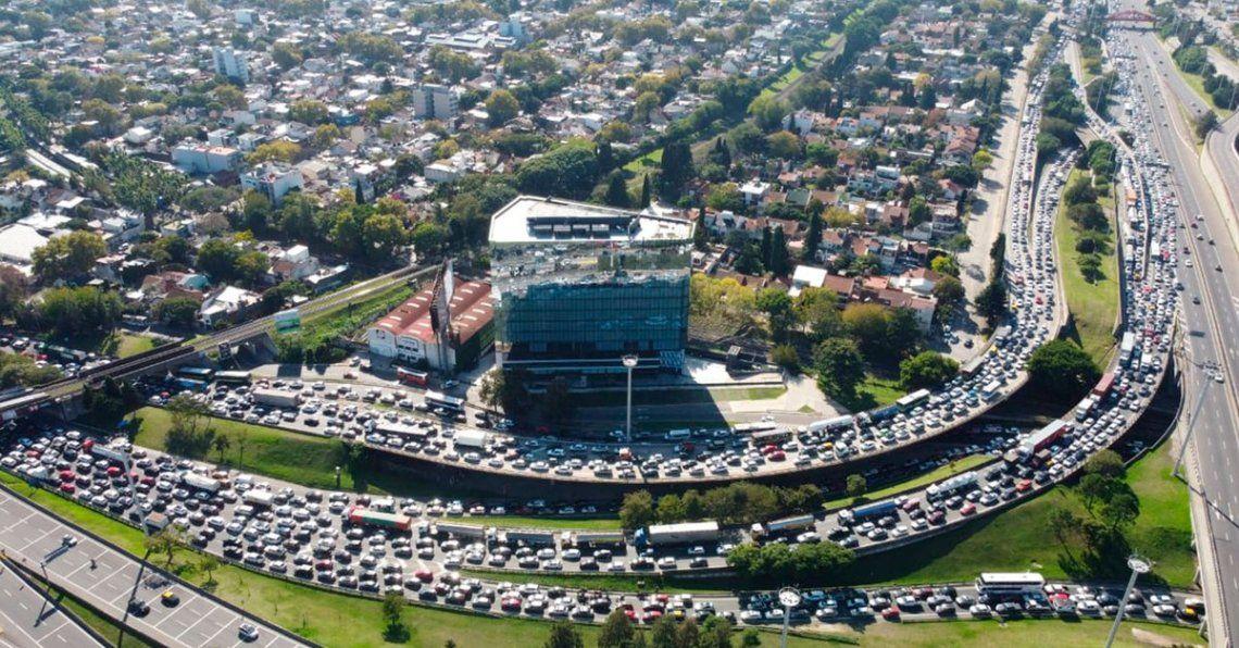 Buenos Aires: caos en accesos al conurbano