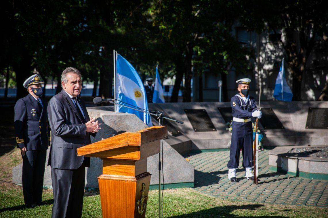 Rossi expresó estos conceptos en su discurso pronunciado en un acto realizado en el Edificio Libertad.