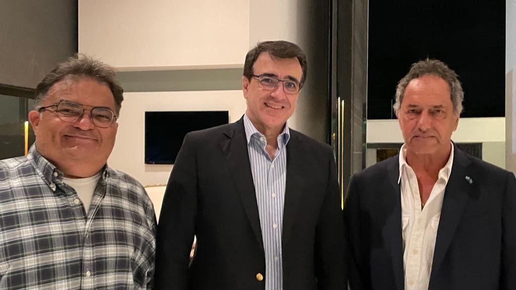 Daniel Scioli con el nuevo canciller de Brasil
