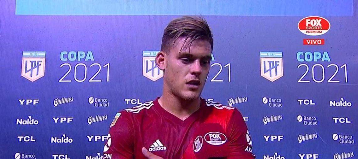Federico Girotti ingresó a los 72 minutos del partido.