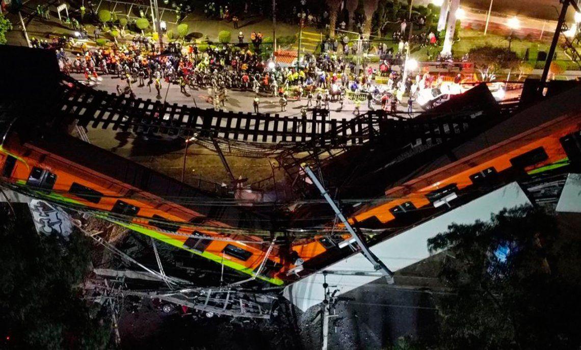 México: las imágenes más impactantes del accidente en el metro