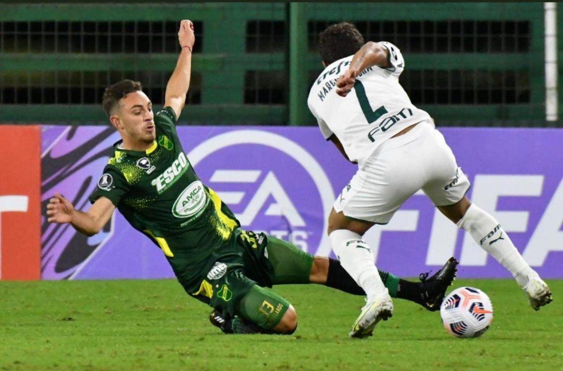 Defensa y Justicia cayó de local 2-1 ante Palmeiras.
