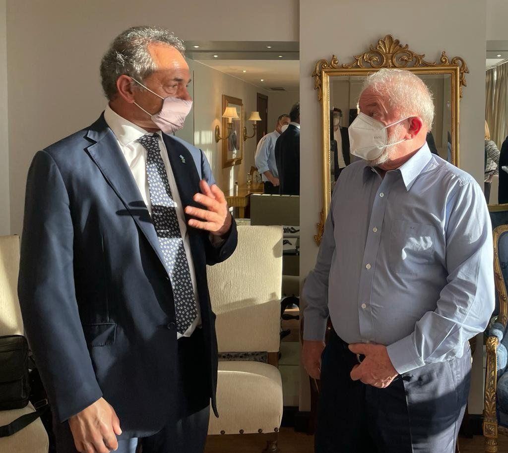 Daniel Scioli y Luiz Inácio Lula da Silva.