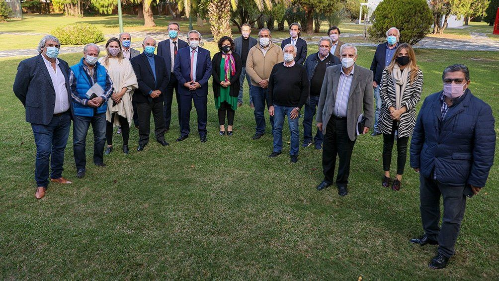 El presidente Alberto Fernández se reunió con sindicalistas