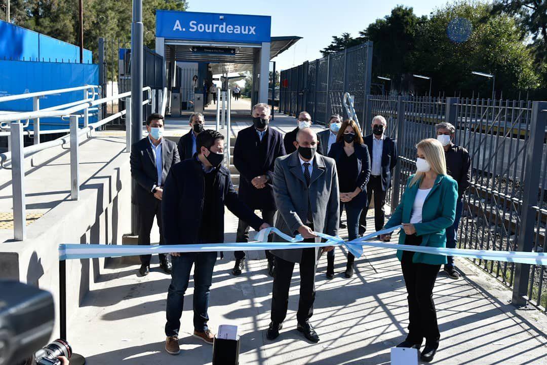 Inauguraron la estación Sourdeaux