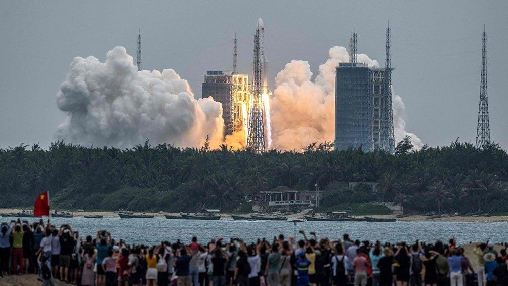 El cohete Long March 5B fue lanzado el jueves 29 de abril en su misión Y2.