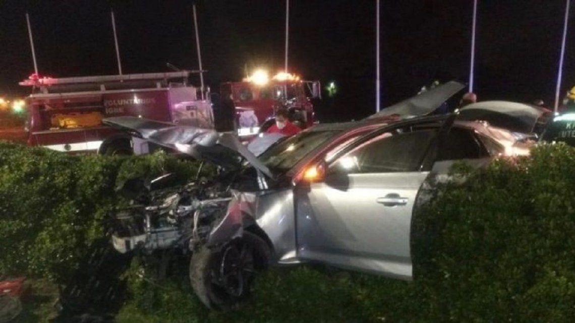 El accidente fatal quedó grabado en las cámaras del municipio.