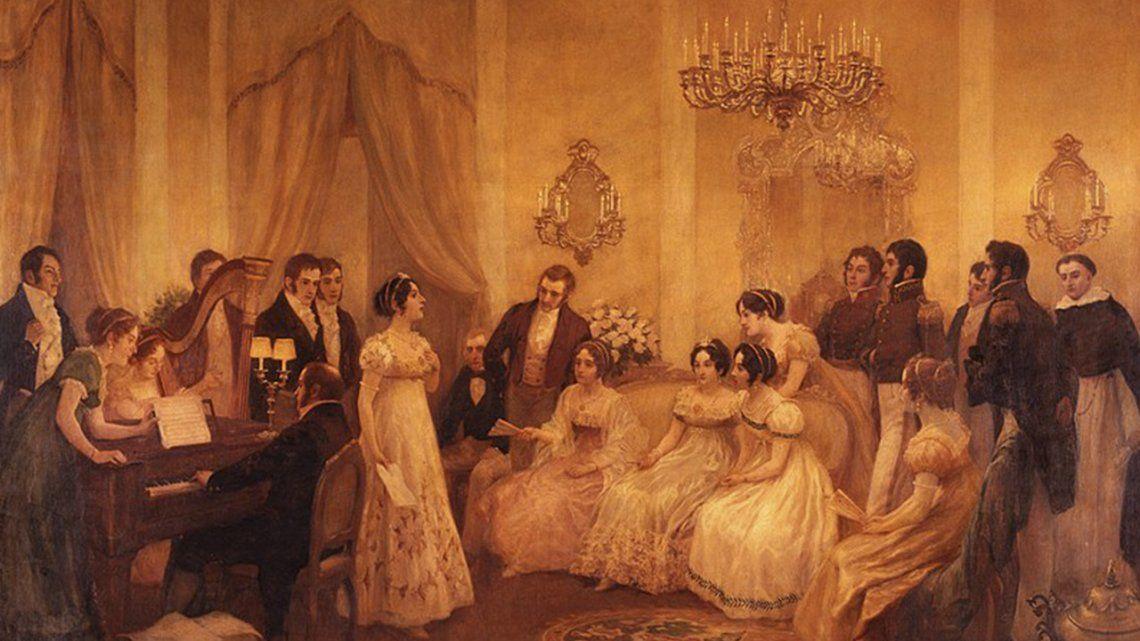 El Himno Nacional fue interpretado por primera vez en la casa de Mariquita Sánchez de Thompson.