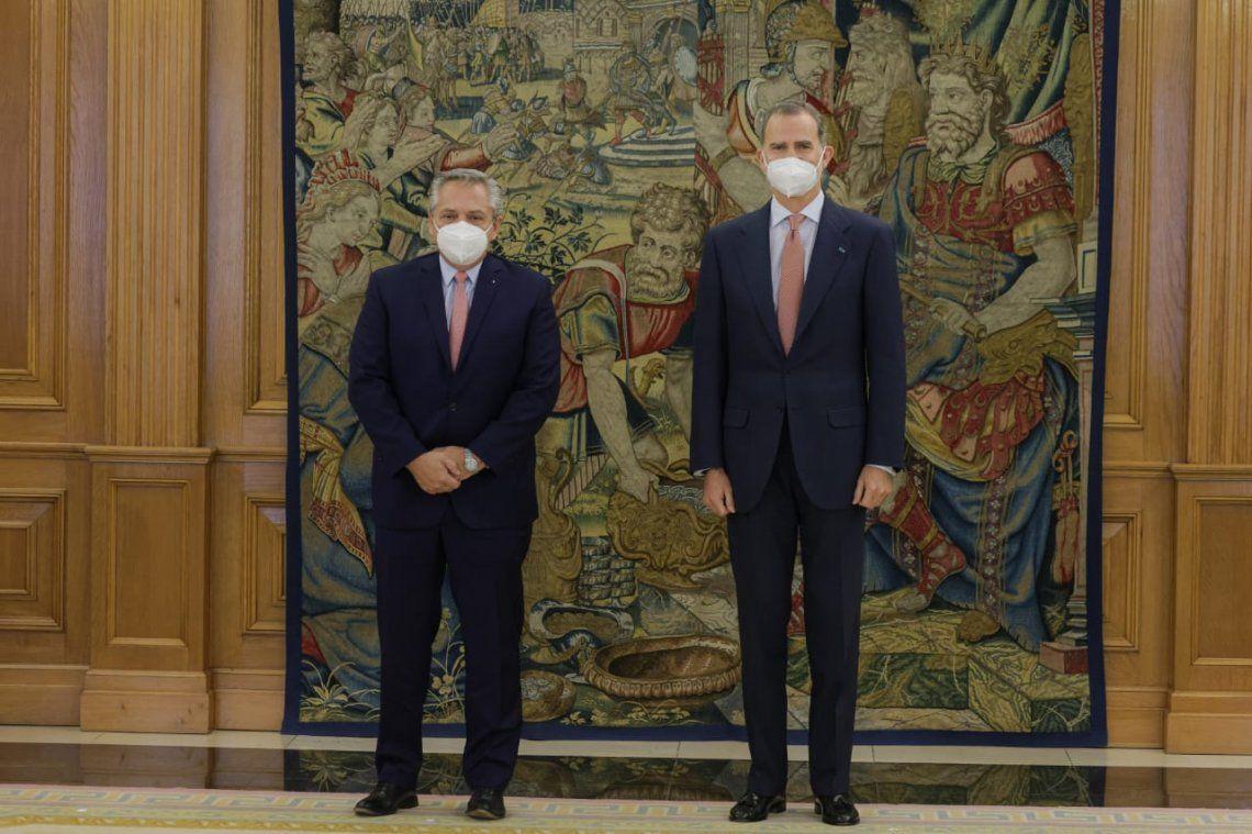 El rey Juan Carlos de España recibió a Alberto Fernández