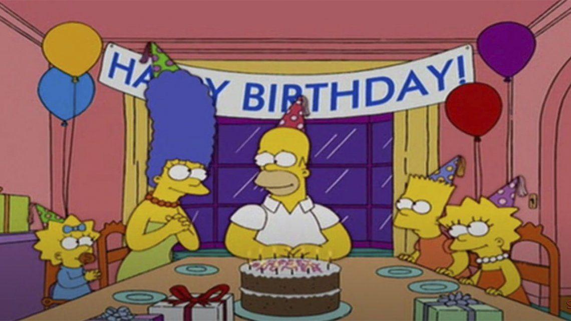 Los Simpson: Homero hoy cumple años.