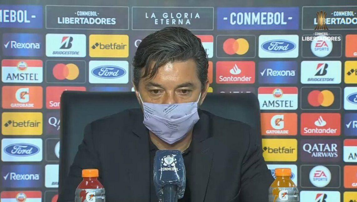 Marcelo Gallardo habló en conferencia al finalizar el partido.