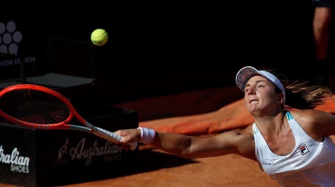 Nadia Podoroska quedó eliminada en Roma