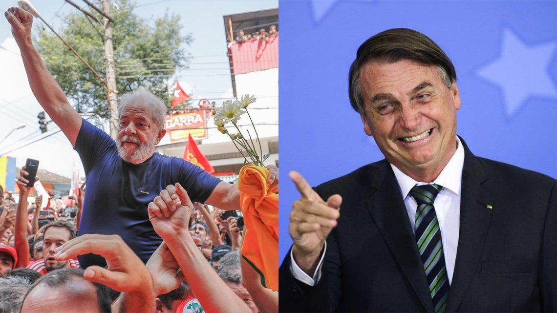 Lula triunfaría sobre Bolsonaro ampliamente
