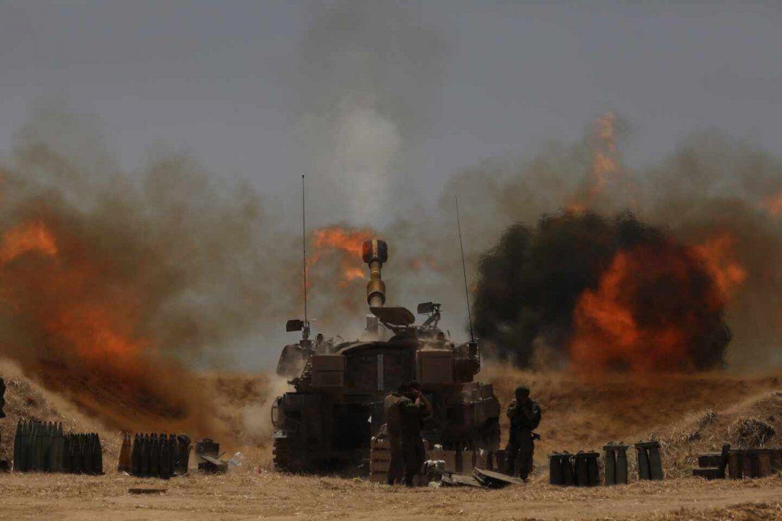 El Ejército israelí intensificó los bombardeos en las últimas horas.