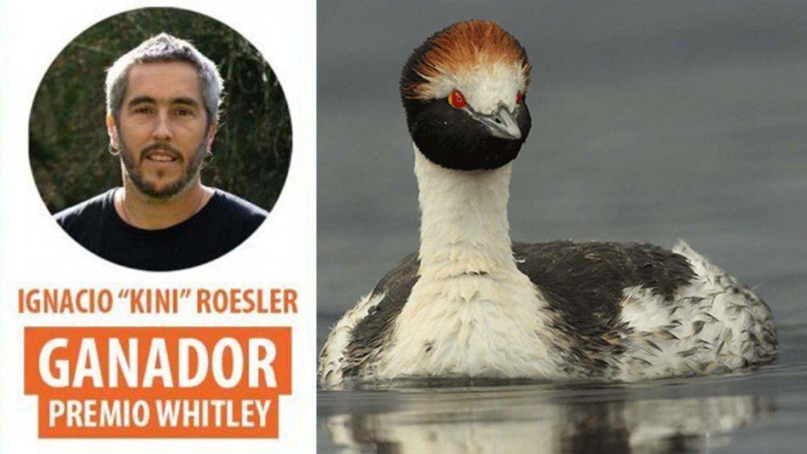 El argentino Kini Roesler gana el premio Whitley.