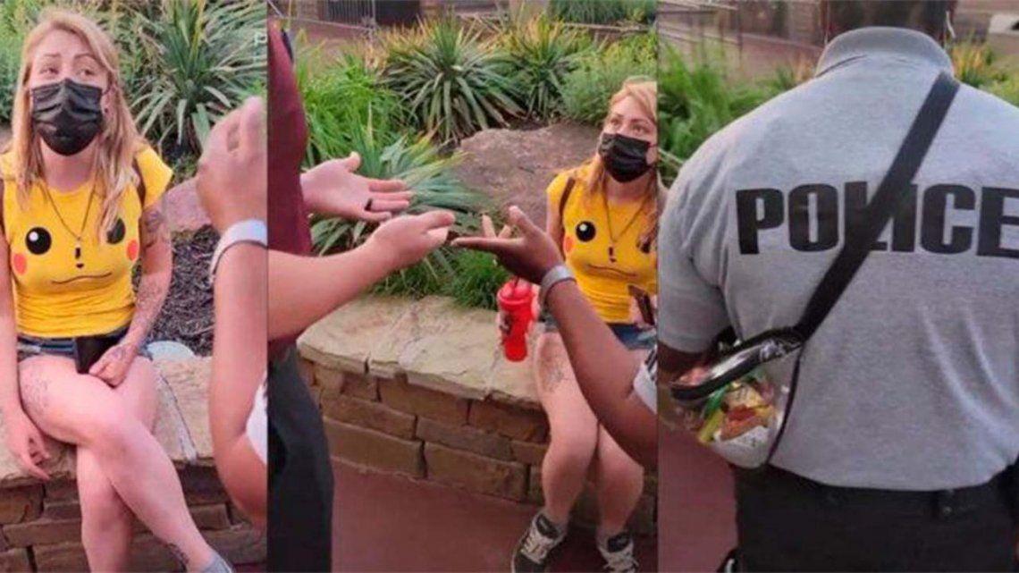 Estados Unidos: La echaron de un parque de diversiones por usar un pantalón muy corto.