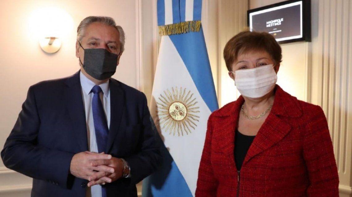 Alberto Fernández y la titular del FMI mantuvieron una reunión muy constructiva