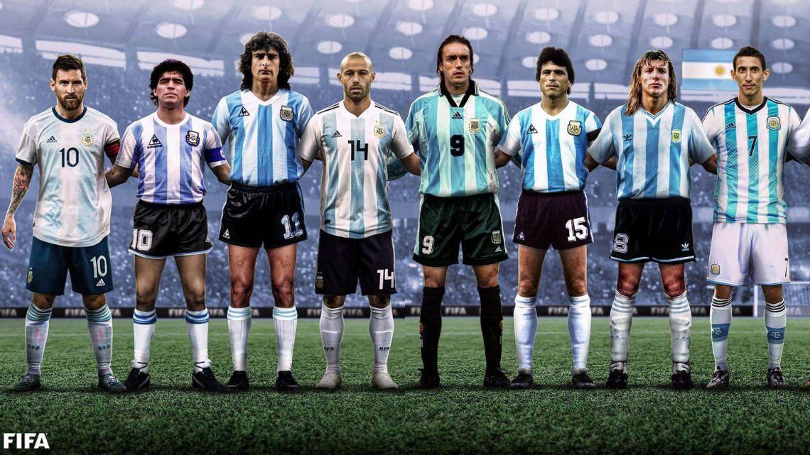 La FIFA eligió a los 16 íconos de la Selección Argentina