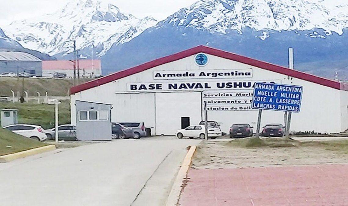 El incendio ocurrió en la base naval de Ushuaia