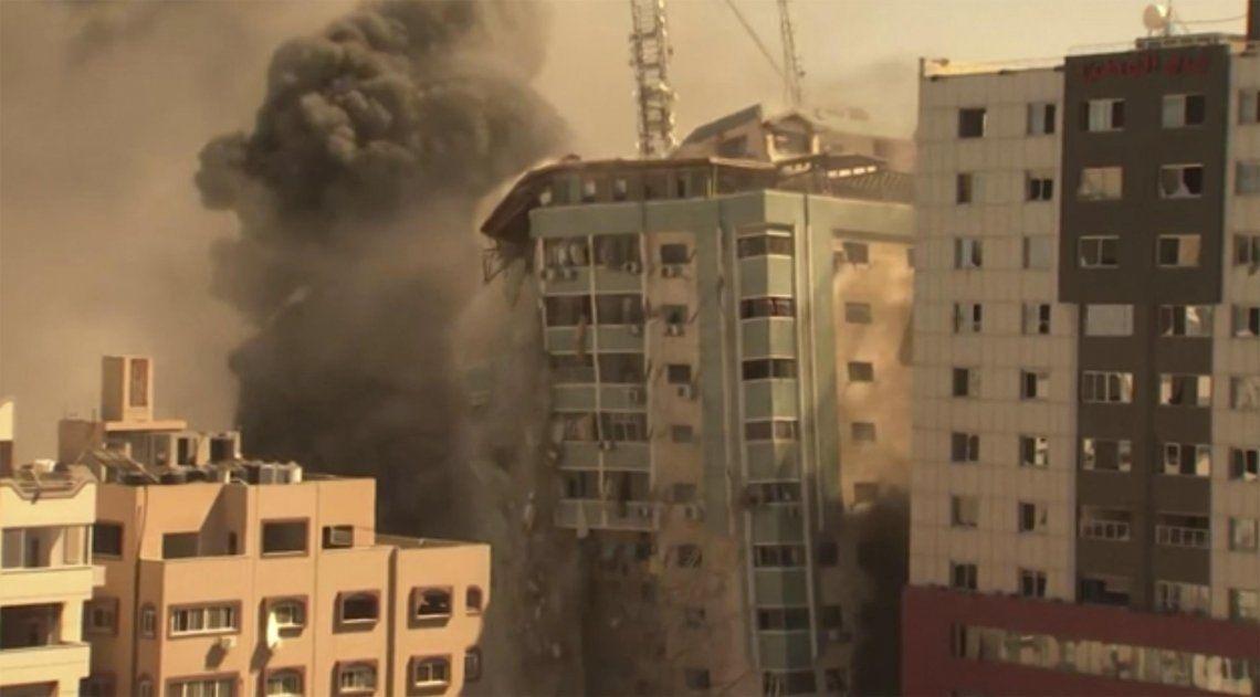 El ejército de Israel atacó las oficinas de AP en la Franja de Gaza
