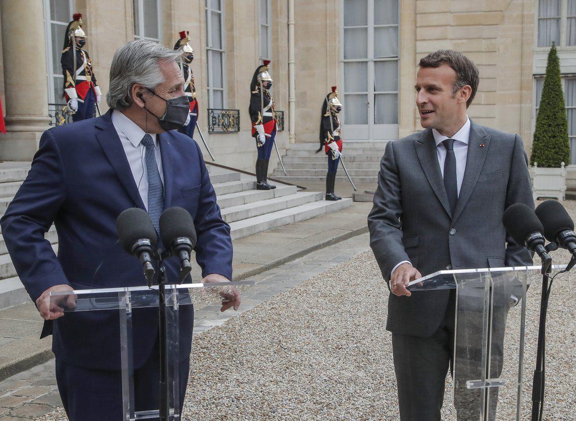 Alberto Fernández y Emmanuel Macron. Un viaje a Europa para confirmar lo que se sabía