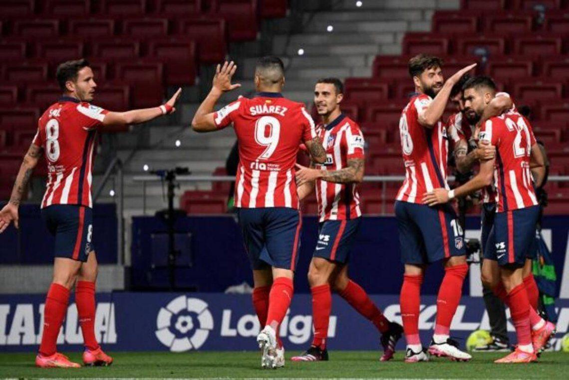 Atlético de Madrid continua líder y depende de sí mismo para consagrarse campeón de la Liga.