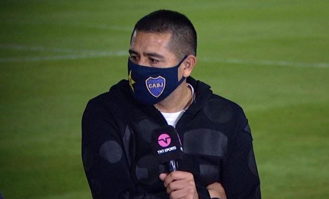 Riquelme tocó varios temas luego de la clasificación de Boca.