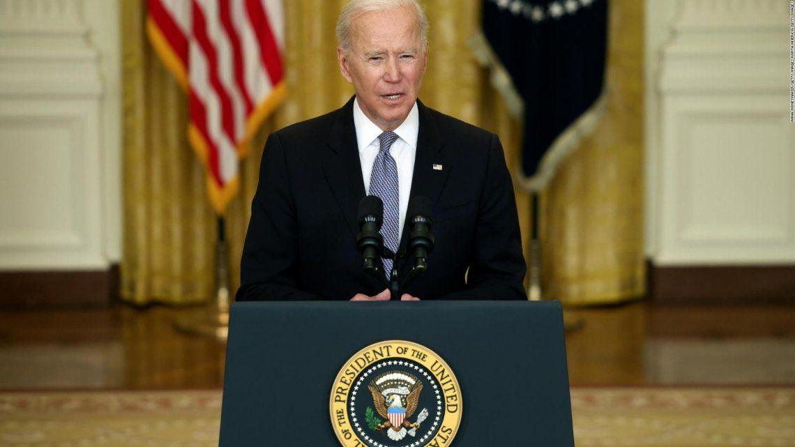 Biden confirmó la donación de vacunas durante una conferencia en la Casa Blanca.