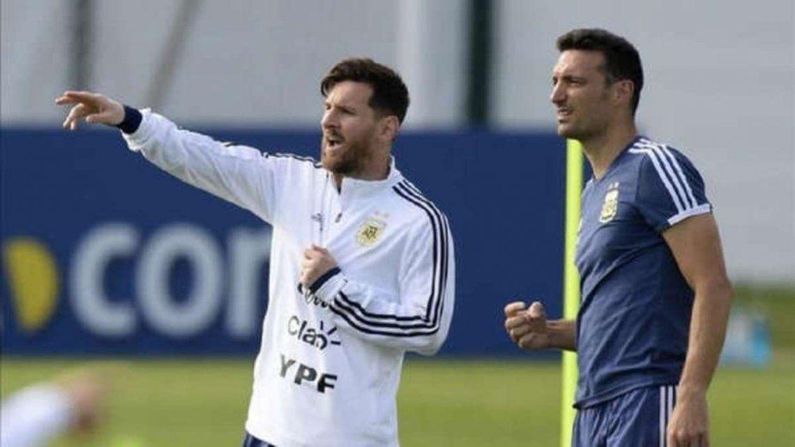 Messi y Scaloni se reencontrarán en Ezeiza.