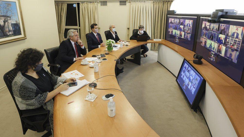 Alberto Fernández se reunió con gobernadores y epidemiólogos