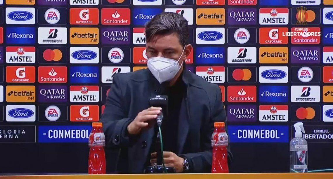 Marcelo Gallardo habló en conferencia de prensa.