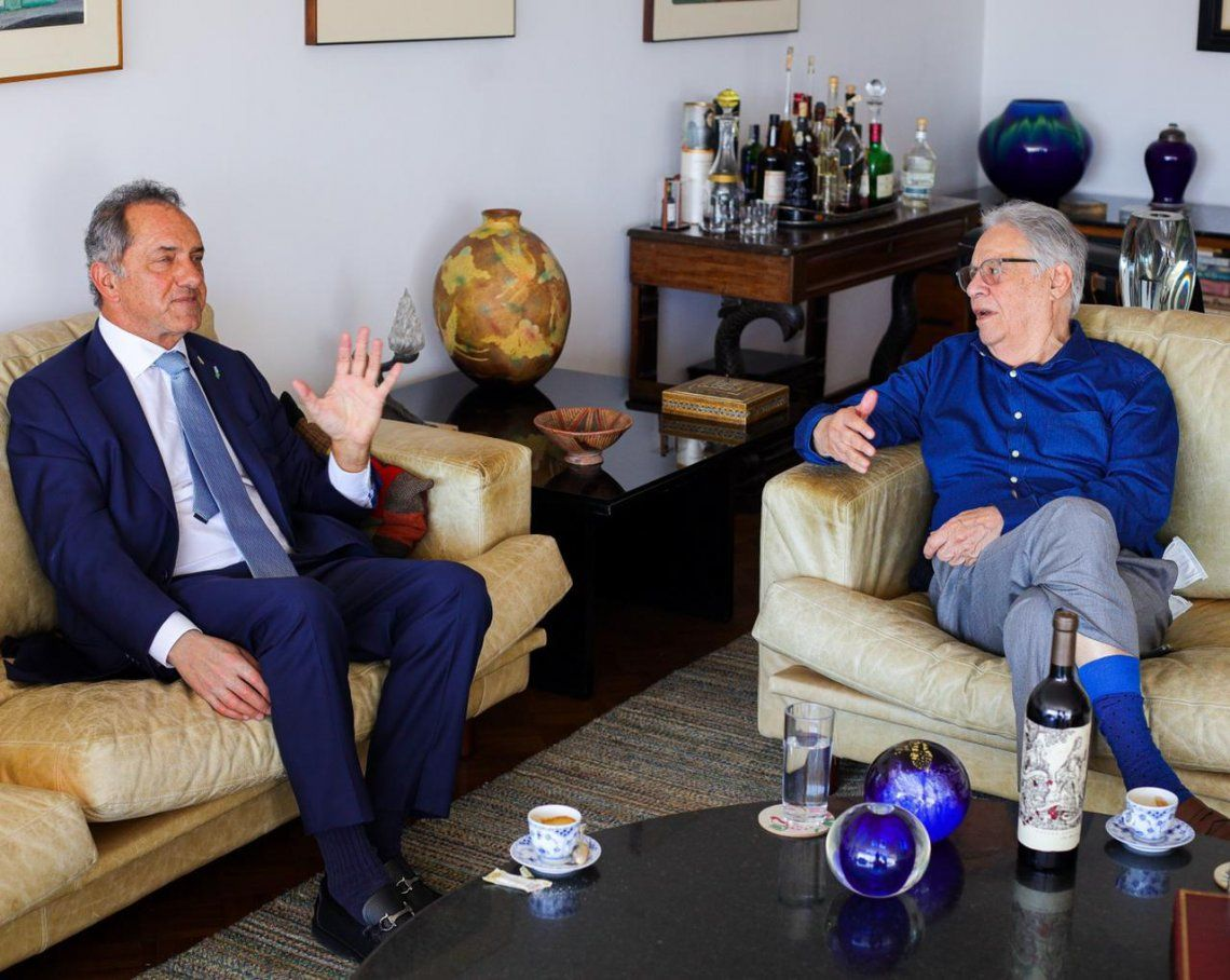El embajador Scioli con el expresidente de Brasil
