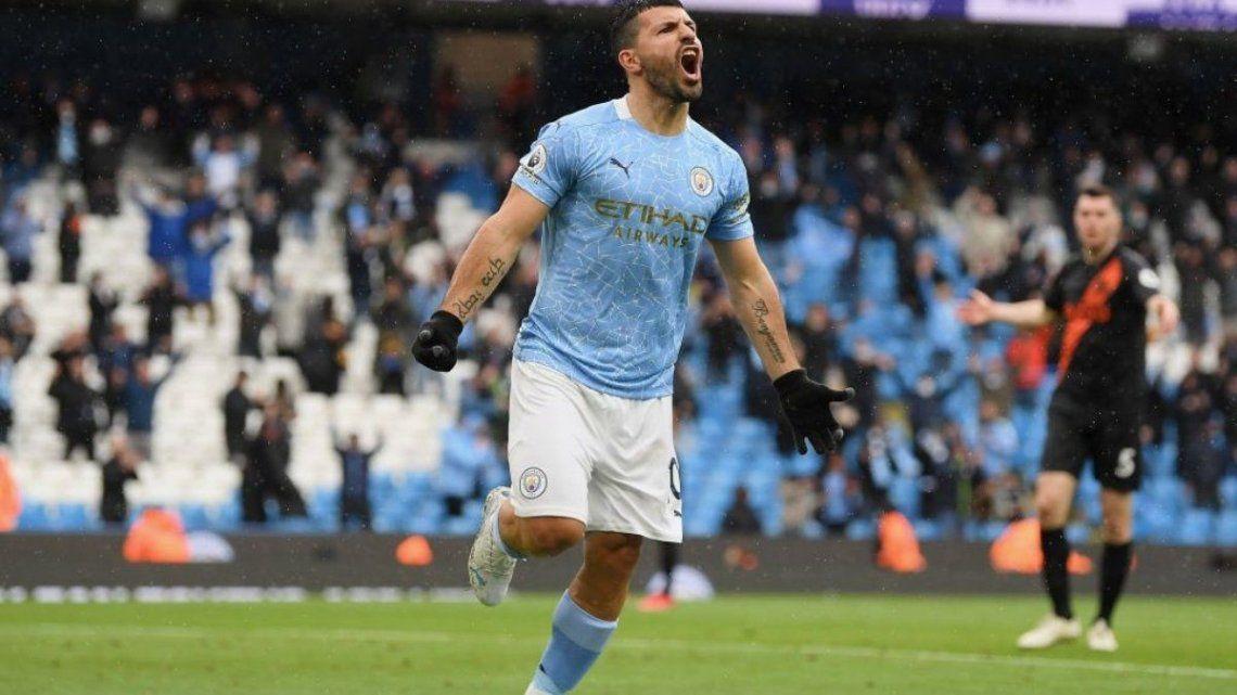 El Kun llegó a los 184 goles y se transformó en el jugador con más tantos en un mismo club en la historia de la Premier League.