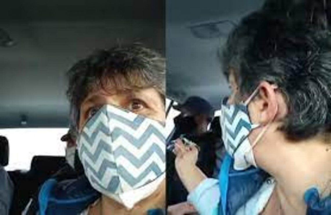 Gabriela Neme transmitió en vivo toda la detención y el traslado a la comisaría.